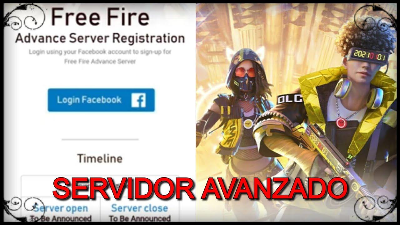 Nuevo servidor avanzado en free Fire y como registrarse. - YouTube