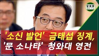 '소신 발언' 금태섭 징계,  '문 소나타' 청와대 영…