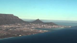 Landing in Cape Town Airport