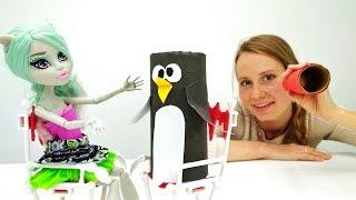 Поделки из бумаги: пингвин для Рошель из школы Монстров