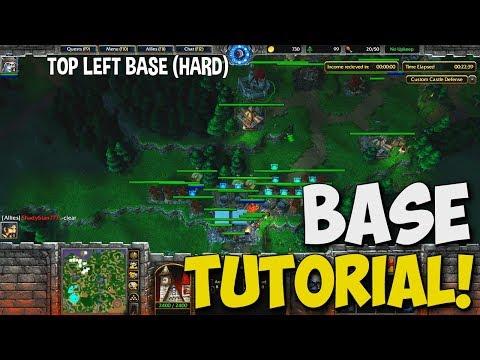 Warcraft 3 - Custom Castle Defense BASE Tutorials (5 BASES W/ Timestamps)