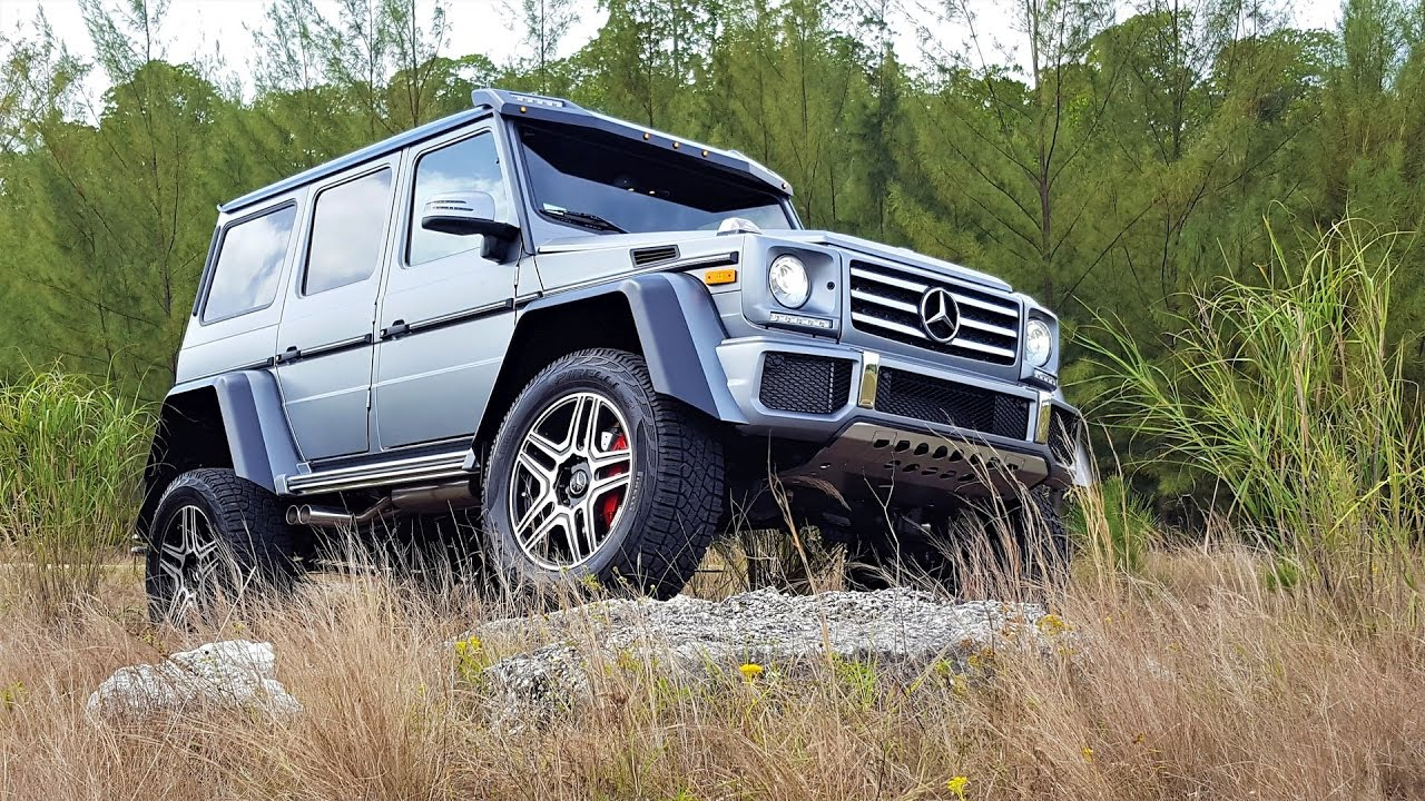 2017 mercedes benz g550 4x4 off road monster matte grey exterior at prestige imports miami youtube. Black Bedroom Furniture Sets. Home Design Ideas