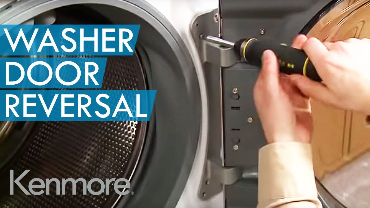 Reversing door swing on a dryer door youtube.