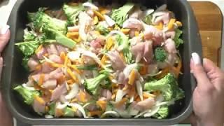 Запеченные куриные грудки с брокколи