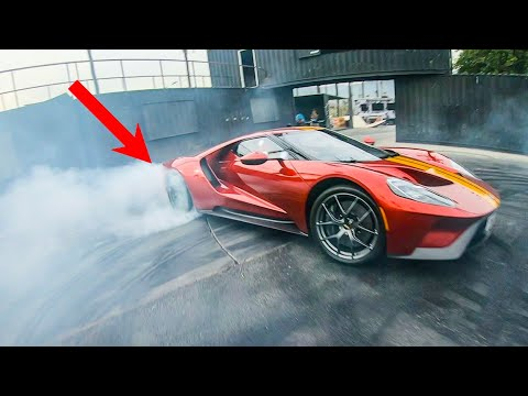 DRIFTING A $1,000,000 FORD GT!  *TIRES DESTROYED* @ HOONIGAN