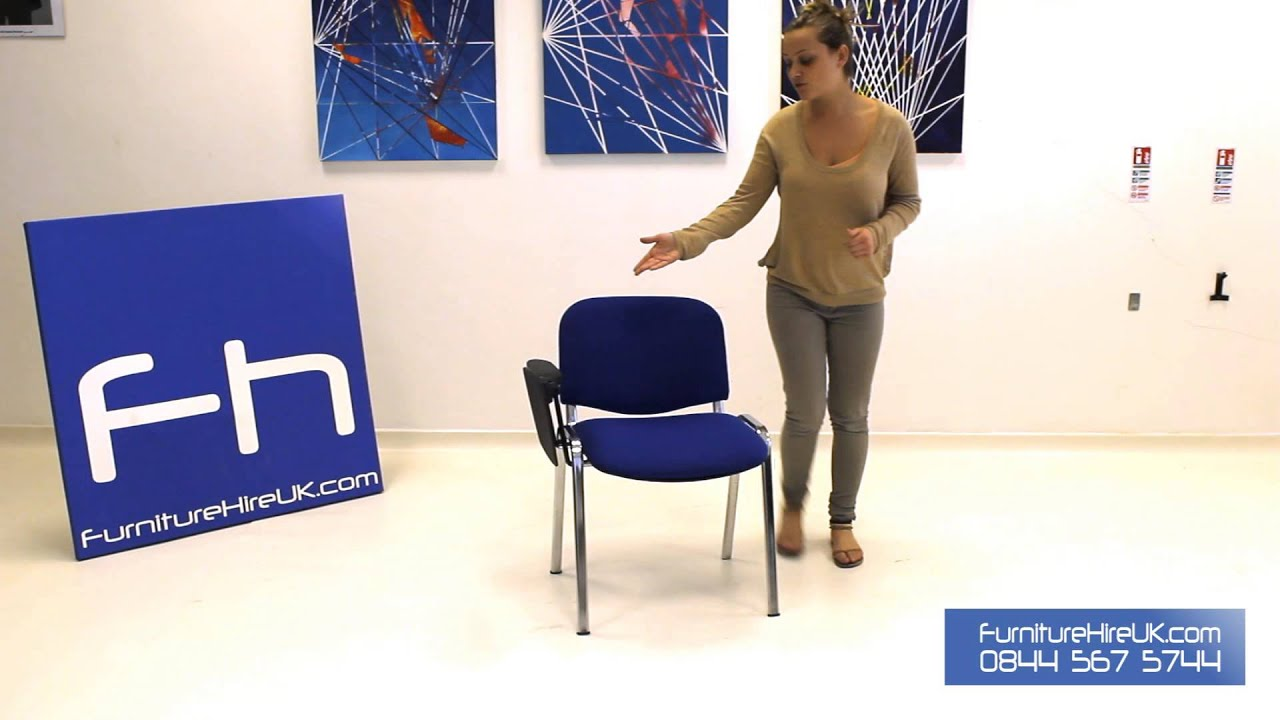 Blue Lecture Chair Demo - Furniture Hire UK