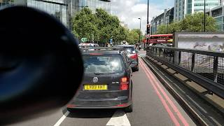 Driving in central London