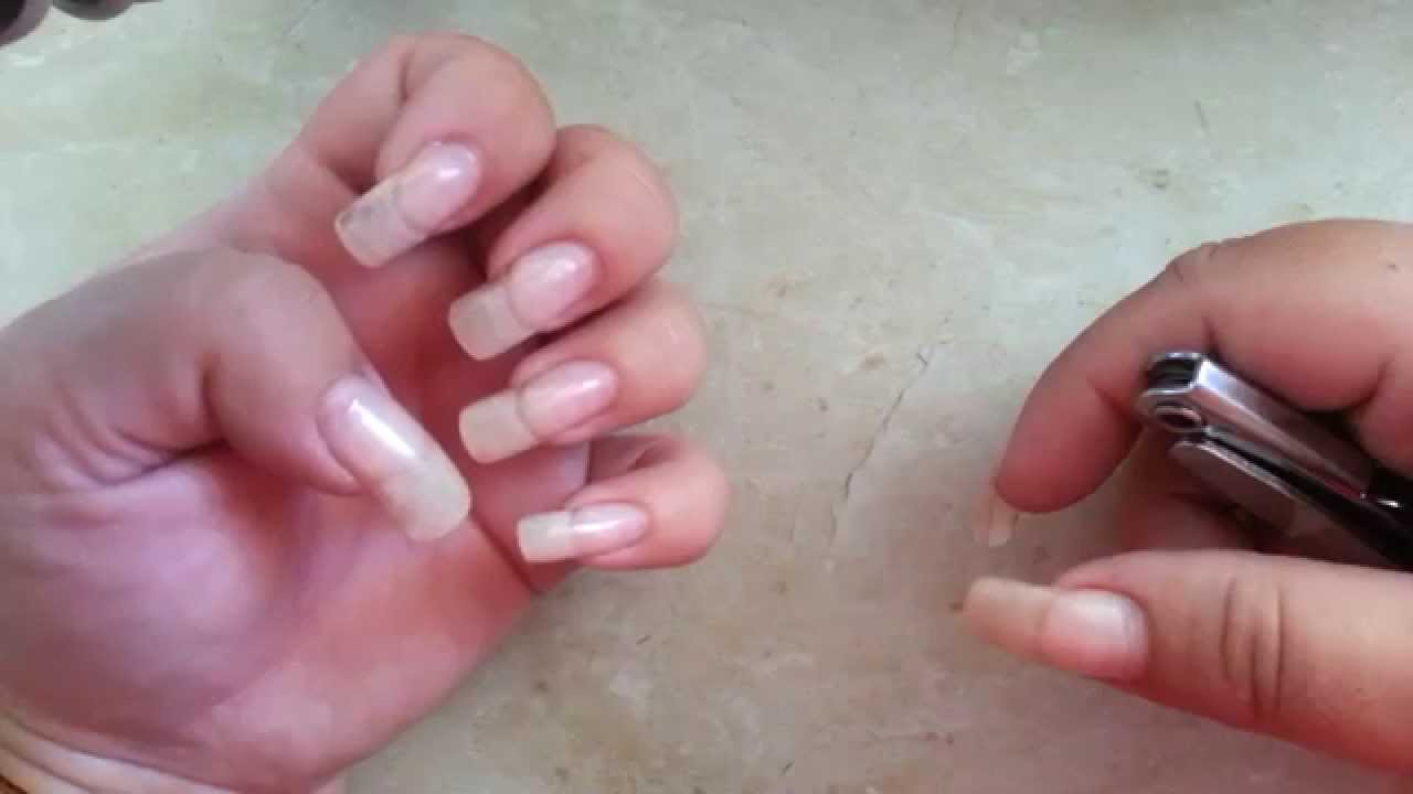 How to apply Gel on natural nails at home - YouTube