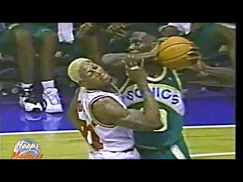 Dennis Rodman vs Shawn Kemp! (1996 Pre-Season)