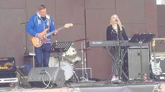 Tiina Nyyssönen Duo live @ Taivaan tulien aukio, Kemijärvi 2018