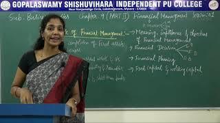 BUSINESS STUDIES | ll PUC | CH 09 | FINANCIAL MANAGEMENT - IMPORTANCE OF FINANCIAL MANAGEMENT | S01