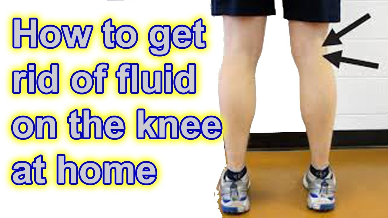 how to get rid of water on the knee