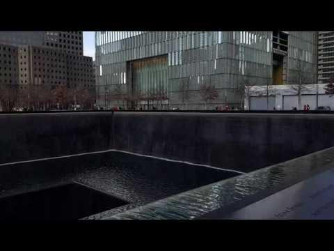 Ground Zero 9/11 World Trade Center Memorial in New York 12.01.2017