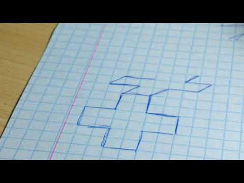 3d крест || Как нарисовать?