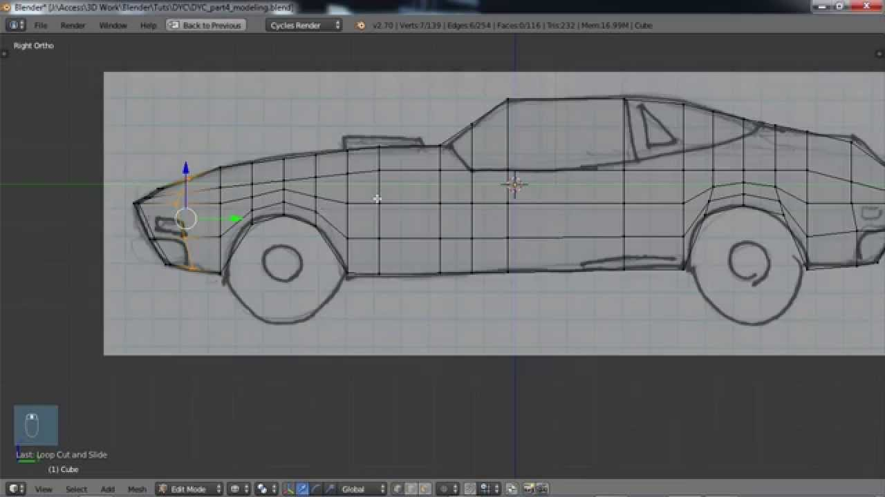 Design Your Own Car >> Blender For Noobs Design Your Own Car Part 4 Modeling