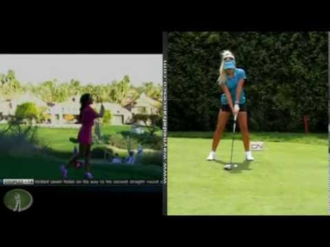 Holly Sonders and Natalie Gulbis: Golf Swing Analysis