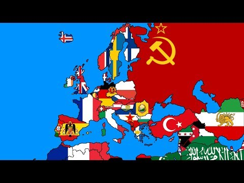 Map of Europe in 1949 (Part 4/4) - Middle East (and Nordics) - Flag Map Speedart