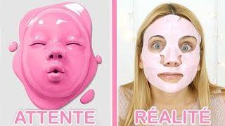 Je teste des masques bizarres : Attente VS Réalité | Sophie Fantasy