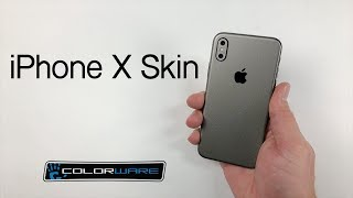 iPhone X Skin installation