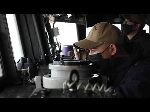 USS John S. McCain Transits the Taiwan Strait April 7, 2021