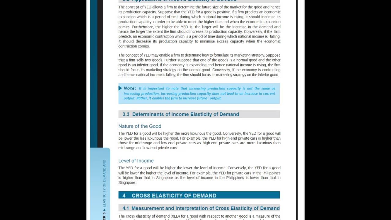 Economics Lecture Notes Chapter 3