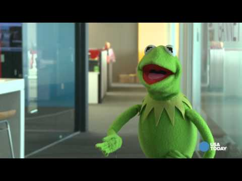 Kermit the Frog does his best turtle impression