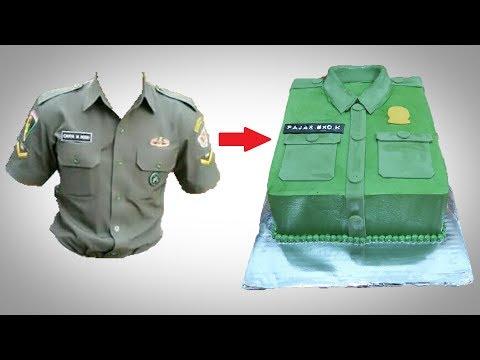 Cara Menghias Kue Ulang Tahun Sederhana Baju Phd Tentara Youtube