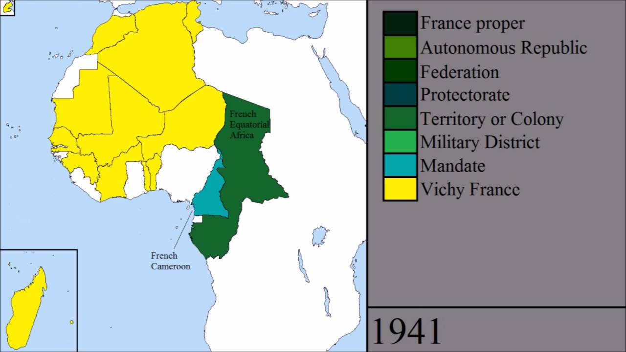 French Africa Map.French Colonies In Africa Youtube