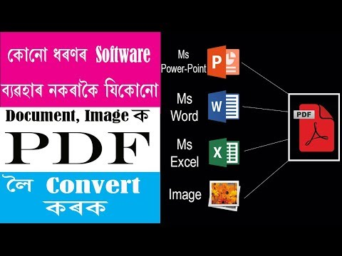 How to convert any document and images into one pdf without any software