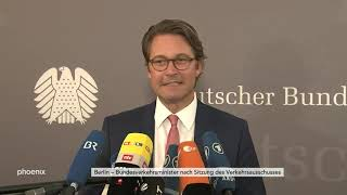 Statement Andreas Scheuer nach Verkehrsausschuss-Sitzung am 26.06.19