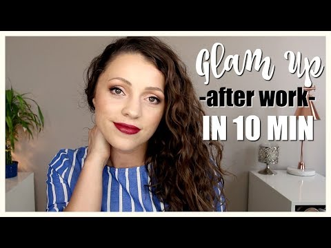 How to GLAM UP After Work in 10 MIN + PRODUCT RECS