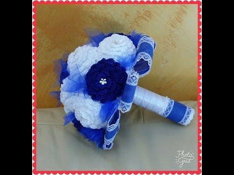 Mazzo Di Fiori Uncinetto.Mini Bouquet A Uncinetto 1 Parte Youtube