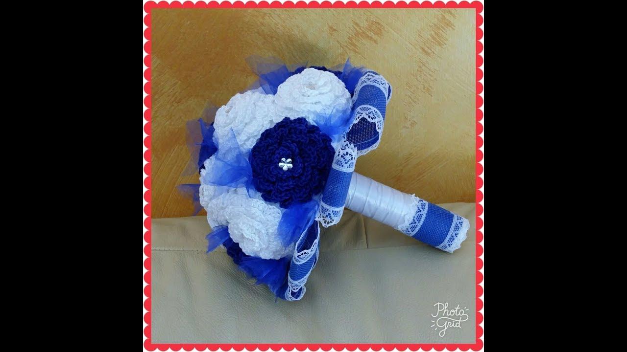 Bouquet Sposa Uncinetto Tutorial.Mini Bouquet A Uncinetto 1 Parte Youtube