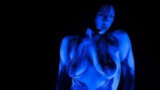 Halo 4 CORTANA Cosplay Body Paint NSFW