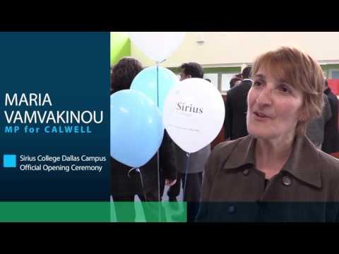 Maria Vamvakinou Dallas Campus Oficial Opening Ceremony