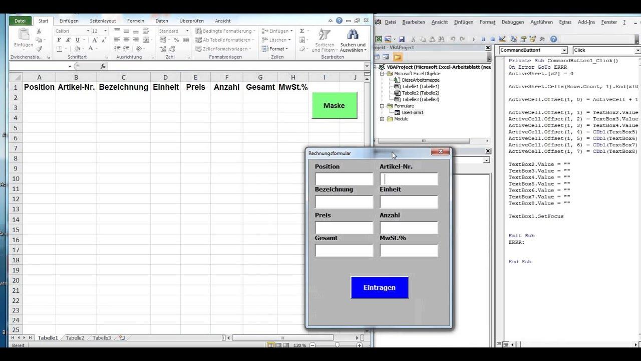 12esfortlaufende Nummer In Excel Datenbank Erstellen Excel Vba