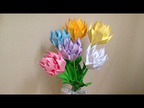 簡単 折り紙:折り紙 菊-youtube.com