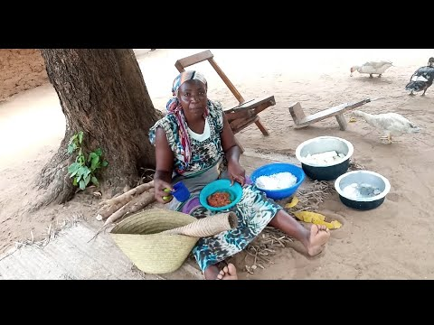 Village Food in Africa,Breakfast,Lunch & Dinner  Village Food in Coastal Africa