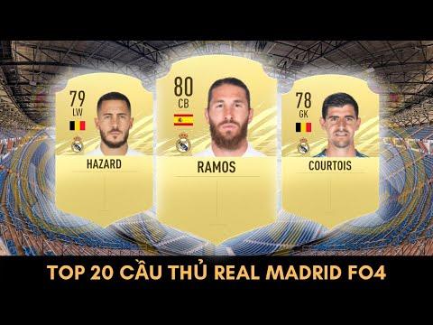 TOP 20 CẦU THỦ REAL MADRID TỐT NHẤT TRONG FIFA ONLINE 4