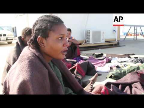 Libya coast guard rescues scores of migrants