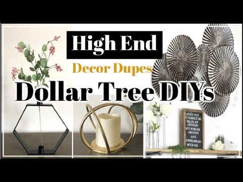 $1 High End DIY Home Decor | Dollar Tree DIY Z Gallerie Inspired Decor