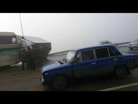 Массовое ДТП на трассе Белгород - Короча 18.03.2017
