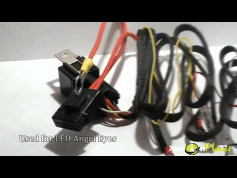 bmw smd led angel eyes harness wiring youtube. Black Bedroom Furniture Sets. Home Design Ideas