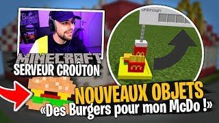 On ajoute des VRAIS Burgers pour mon McDonald's sur notre serveur Team Croûton Minecraft !