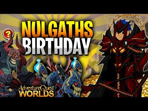 NULGATH's Birthday! Lots of Items to Farm! (Free Bank Pet) AQW Scavenger Hunt