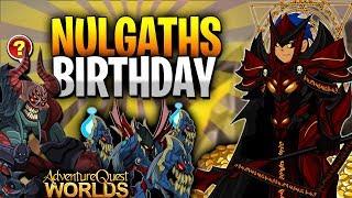 NULGATH's Birthday! Lots of Items to Farm! (Free Bank Pet) AQW Scavenger Hunt