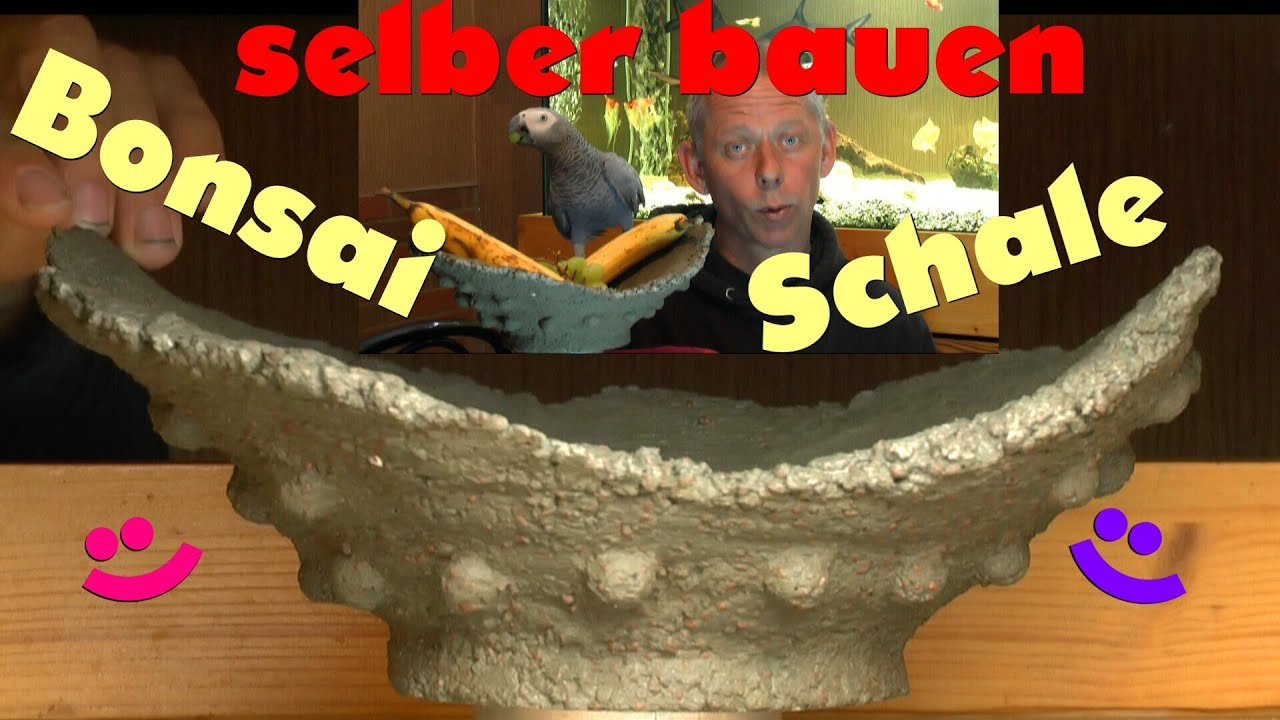 bonsai schale mondschale selber bauen ganz einfach aus beton teil2 youtube. Black Bedroom Furniture Sets. Home Design Ideas