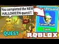 UNLOCK LIMITED MYTHICAL PET FROM *NEW* HALLOWEEN SKELETON QUEST in MINING SIMULATOR UPDATE! (Roblox)