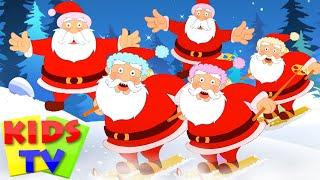 Five Fat Santas   Five Little Santas   Christmas Carols & Songs   Nursery Rhymes   Kids Tv Cartoon