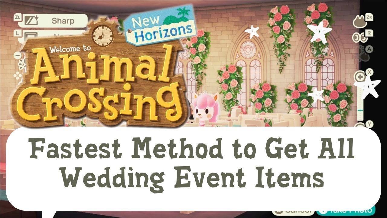 Fastest Way To Get All The Wedding Event Items Without Time Travel Youtube